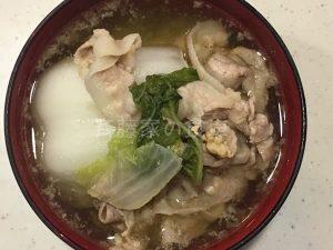 白菜と豚バラのスープ